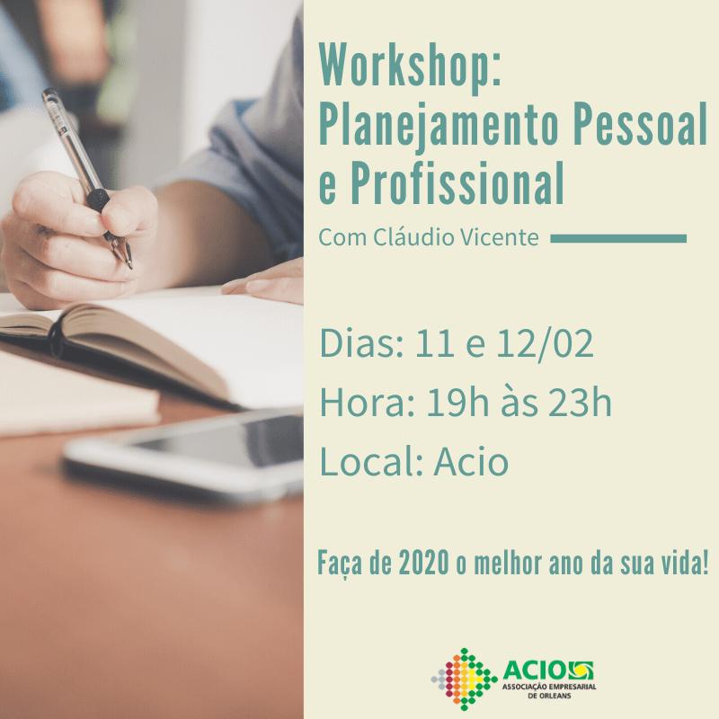 Banner Workshop: Planejamento Pessoal e Profissional