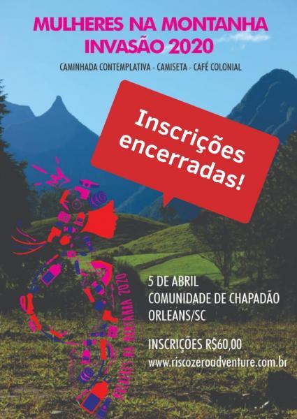 Banner do evento mulheres na montanha