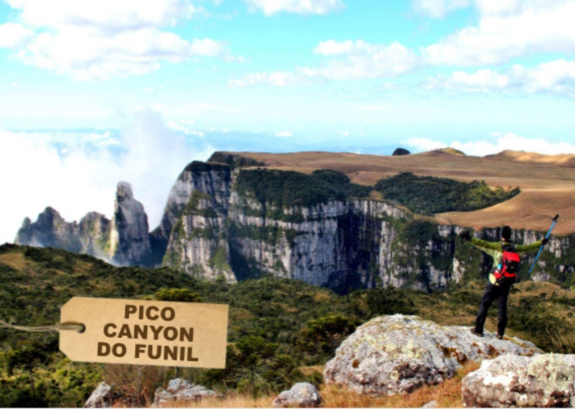 Canyon do Funil na serra Catarinense