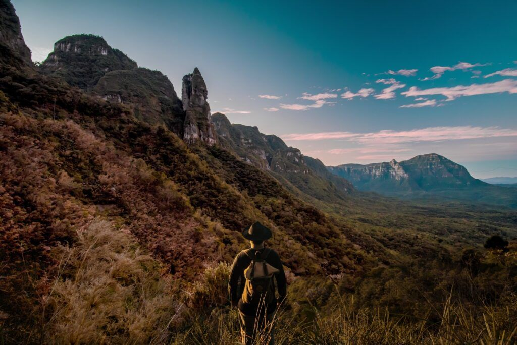 Foto de montanhas na Serra Catarinense
