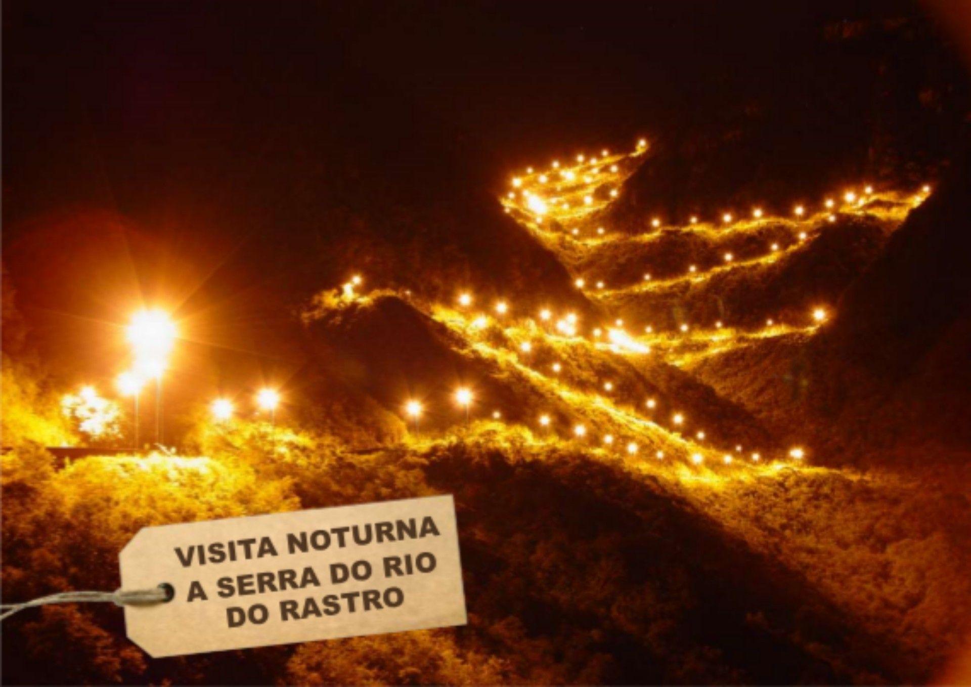 Serra do Rio do Rastro vista durante a noite